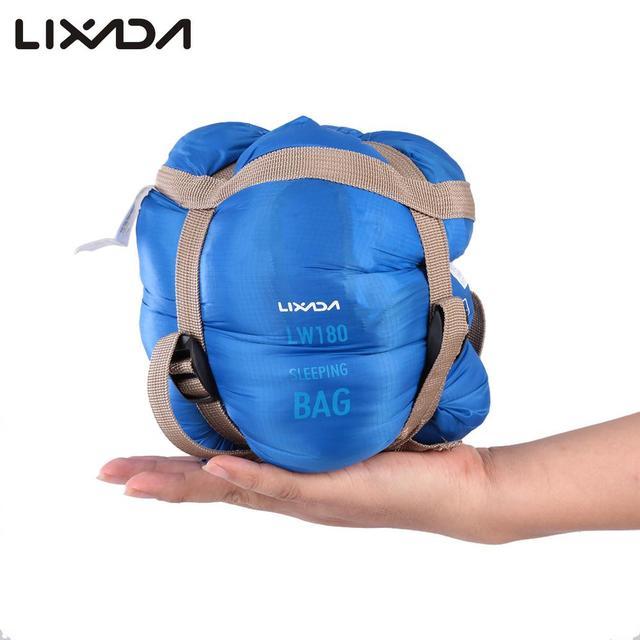 Lixada 190 * 75cm Outdoor Camping Bag Hiking Sleeping Bag Multifunctional Ultra-light Envelope Hooded Sleeping Bed Lazy Bag 2