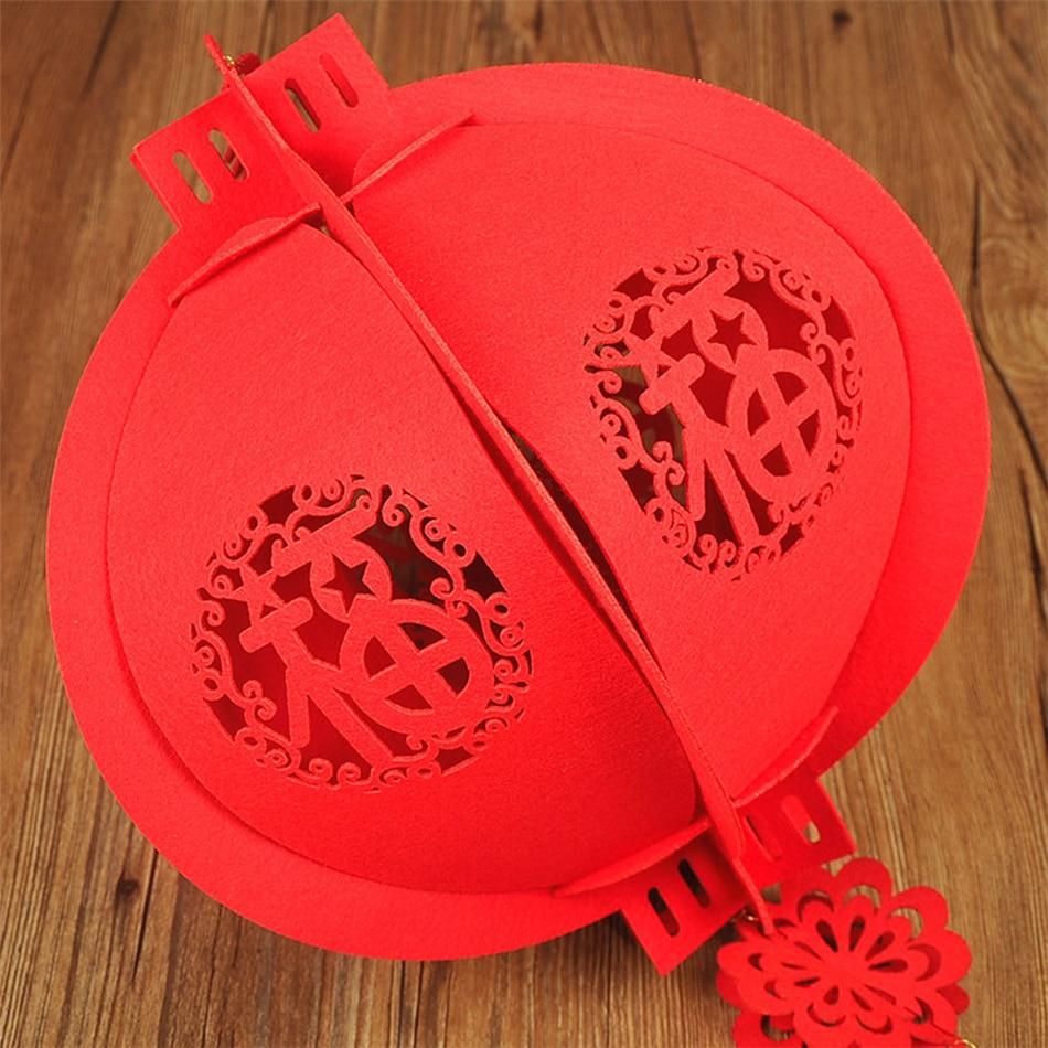 Китайский фонарь DIY красный фонарь нетканый материал счастливые фонари-украшения Весенний фестиваль Рождество подвеска «фонарь»