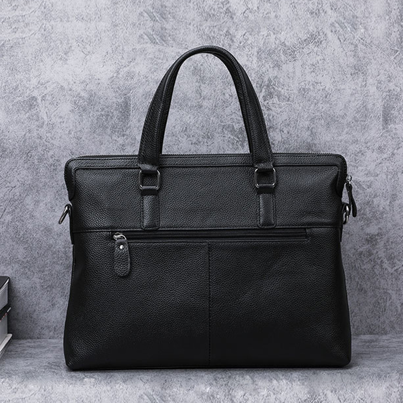 BAQI Brand Men HandBags Men Briefcase Bag Genuine Cow Leather 2019 Fashion Computer Business Bag Men Shoulder bags Messenger Bag