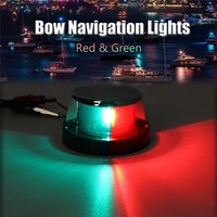 1PC Stainless Steel Marine Boat Yacht Bow Navigation Light DC 12V 5W Red Green Waterproof