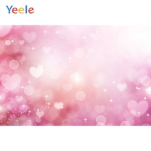 Yeele Pink Light Bokeh Glitters Children Birthday Party Photography Backdrop Wedding Love Photographic Background Photo Studio
