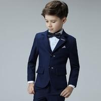 Children's Tuxedo Dress Suits Set Spring Flower Boy Piano Wedding Party Birthday Costumes Kids Blazer Vest Pants Shirts Bowtie