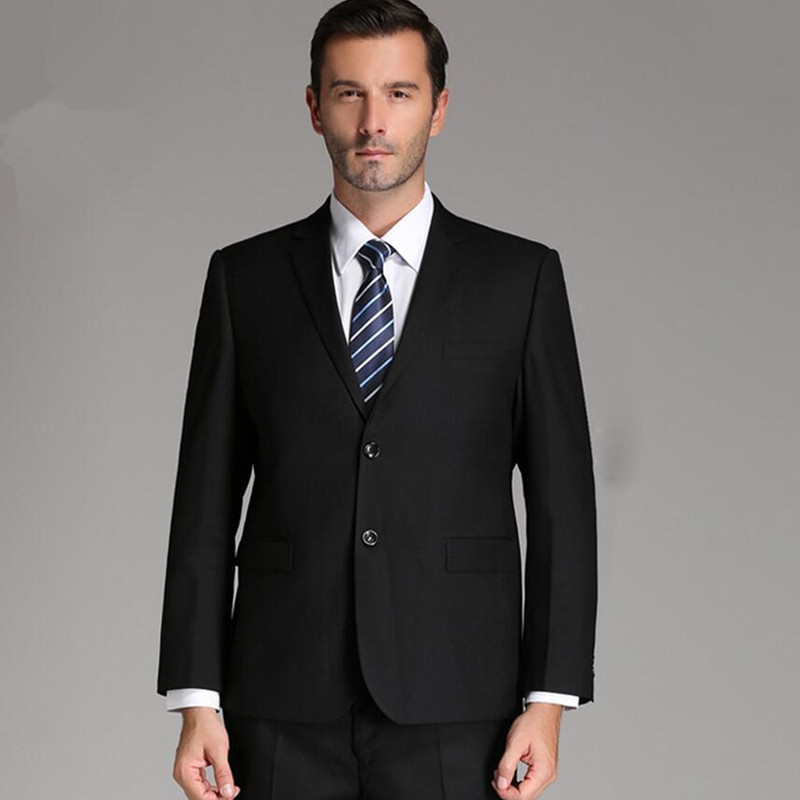 Hot Sale!Custom Made Two Button Groom Tuxedos Wedding Suit