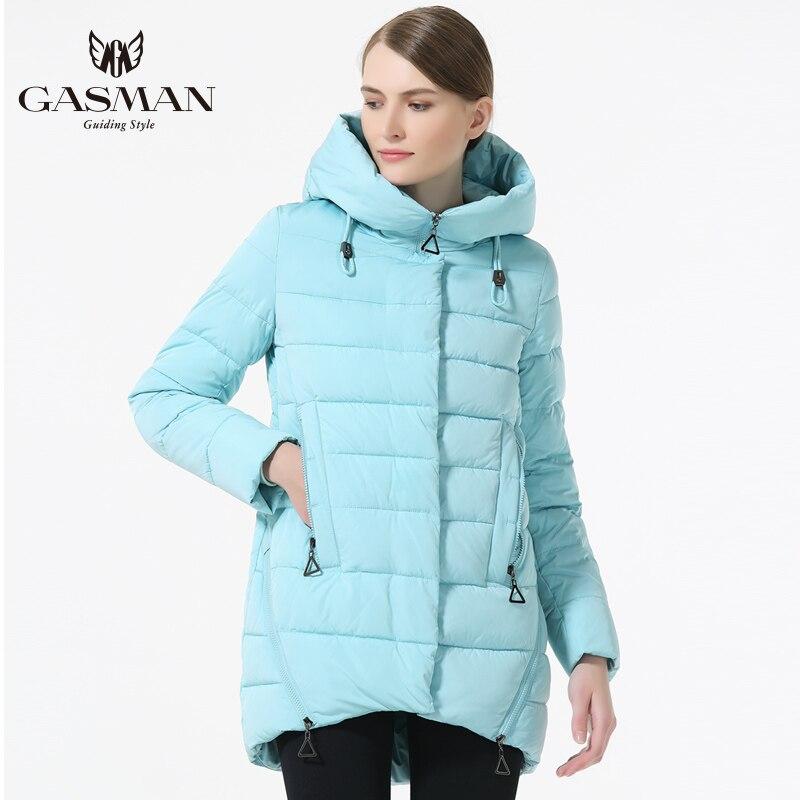 GASMAN 2019 النساء الشتاء قصيرة أسفل سترة عارضة معاطف مقنع الدافئة أسفل سترة للنساء الأزياء الدافئة الشتاء يندبروف معطف-في سترات فرائية مقلنسة من ملابس نسائية على  مجموعة 3