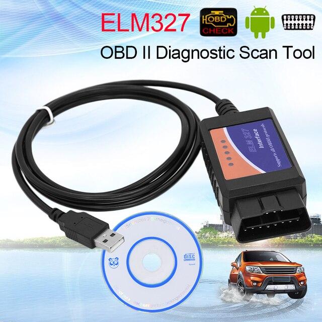 OBD2 SCAN ELM327 USB interface usb elm327 scanner OBDII OBD2 CAN-BUS Diagnostic Scanner