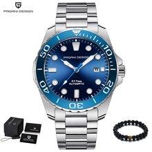 パガーニデザインブランド男性高級時計自動ブルー腕時計メンズステンレススチール防水ビジネススポーツ機械式腕時計