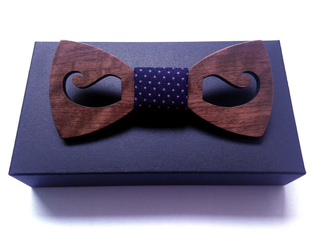 Tie For Boys Ideas Birthday Gifts Boyfriend Natural Wood Bowtie Men Bowties Designers Fashion