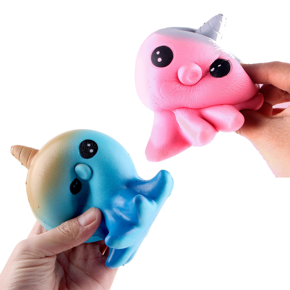 Satkago Soft Squishy Cute Kawaii Cartoon Unicorn Octopus Toy Slow Rising for Children Adults Relieves Stress Anxiety Home Decor