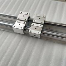 2 pcs SBR20 500mm Rails de Supporters + 4 pcs SBR20UU Blocs pour CNC Rails de Support D'arbre Linéaire et Portant blocs