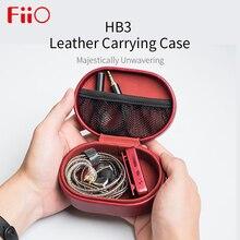 Fiio HB3 עור תיק נשיאה תיבת עבור FIIO HiFi אוזניות F9 פרו BTR3 CL06 נייד תיק