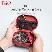 Fiio HB3 Leather Carrying Case Box for FIIO HiFi Earphones F9 Pro BTR3 CL06 Portable Bag