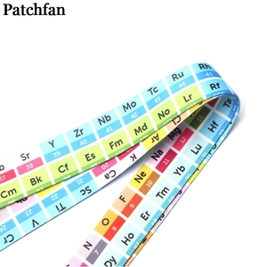 Image 5 - 20pcs/lot Patchfan Periodic table cool men lanyards for keys in mobile phone straps necklace card holders webbing ribbons A2076