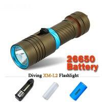 Powerful Led Diving Flashlight Cree Xm L2 Underwater Lamp Scuba Lanterna Waterproof Linterna Zaklamp26650 Or 18650