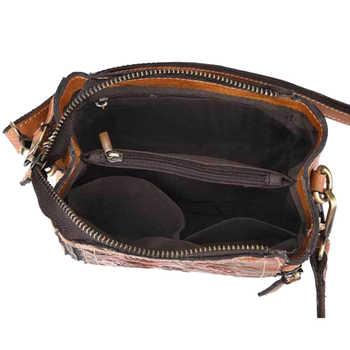 Women Messenger Shoulder Top Handle Bags Genuine Leather Embossed Luxury Real Cowhide Ladies Tote Bag Female Cross Body Handbag