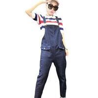 Denim Rompers Womens Jumpsuit Jeans Overalls Elegant Suspender Denim Overalls Women Slim Elegant Sexy Jumpsuit 2017
