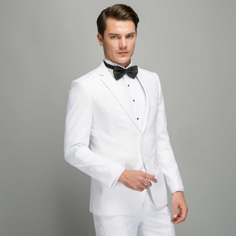 Plyesxale新郎ホワイトメンズスリムフィットウェディングスーツセット高品質メンズパンツとスタイリッシュなブランド服q14