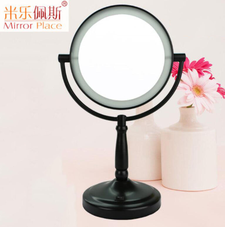 The bright LED lamp in the 7-inch version of the millepez 7-inch home has a 360-degree mirror image of a desktop cosmetic and do