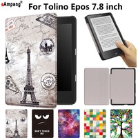 Case For Tolino Epos 7 8 Inch Smart Cover Case Funda EBook Reader Fashion Painted Pu