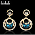 Luxury and Romantic Women Dangling Long Earrings for wedding and party,Pendant earrings for women,Bohemian gold plated earrings