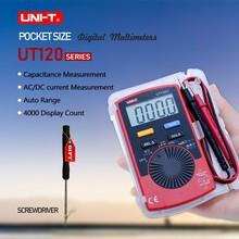UNI-T Ut10A Pocket Digital Multimeter Auto Range AC DC Volt Ohm Capacitance Hz Tester mastech ms2109a auto range digital ac dc clamp meter 600a multimeter volt amp ohm hz temp capacitance tester ncv test