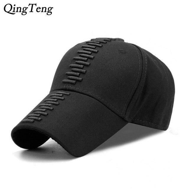 Kualitas tinggi Laki-laki Hitam Topi Keren Bordir Peluru Ayah Topi Baseball  Cap Snapback Topi 12e396951a