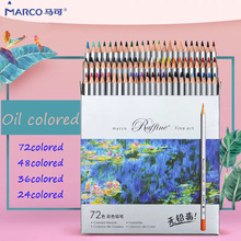 лучшая цена Marco 72pcs Colored Pencil Painting Set Raffine Pencils Non-toxic Lead-free Oily Color Pencil Writing Pen Office School Supplies