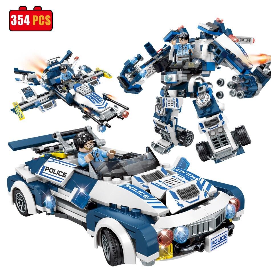 Futurs agents de Police Ville Guerre X-Agents Armure Char Modèle De Voiture Mech Robot Blocs de Construction compatible legoes l'éducation Jouets pour enfants