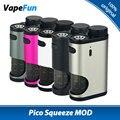 100% original 50 w eleaf pico squonk squeeze box mod con recargables botella de 6.5 ml de gran capacidad y reinventado sistema squonk