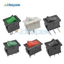 цена на 5PCS KCD1 Rocker Switch Boat Switch On-Off On-Off-On Button 2 Pins 3 Pins 4 Pins 6 Pins Light Switch 6A 250V/10A 125V 15*21mm
