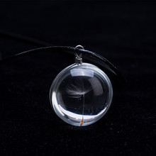 Best Dandelion Crystal Glass Ball Necklace Cheap
