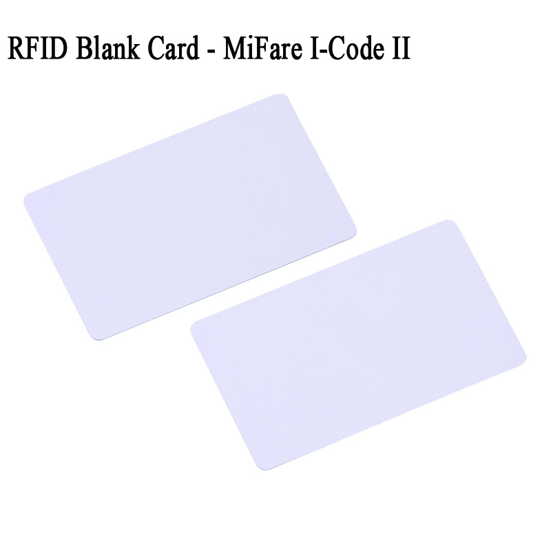 Philips i code II blank card icode2 icode sli sli-x sli-s white card tag protocol ISO 15693 cr80 size rfid 13.56mhz 26mm iso15693 rfid pps laundry tags with 13 56mhz i code sli chip 1000pcs lot