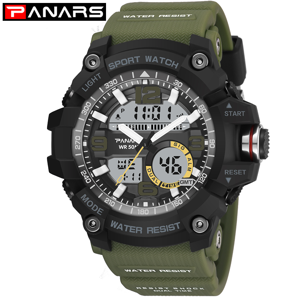 G Style Men's Military Sports Watch LED Digital Watch Waterproof Men's Watch