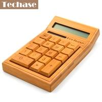 Techase CS19 Calculadora Bamboo Solar Calculator Wooden Scientific Calculator 2017 New Hesap Makinesi Calculadora Financeira