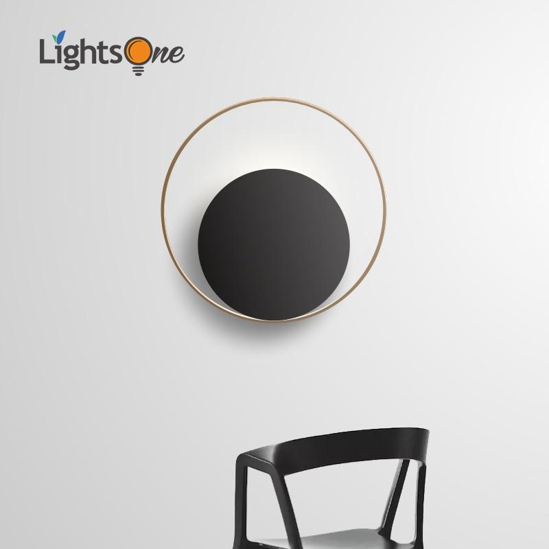 nordic luz de parede personalidade criativa sala estar moderno e minimalista redondo corredor quarto lampada cabeceira