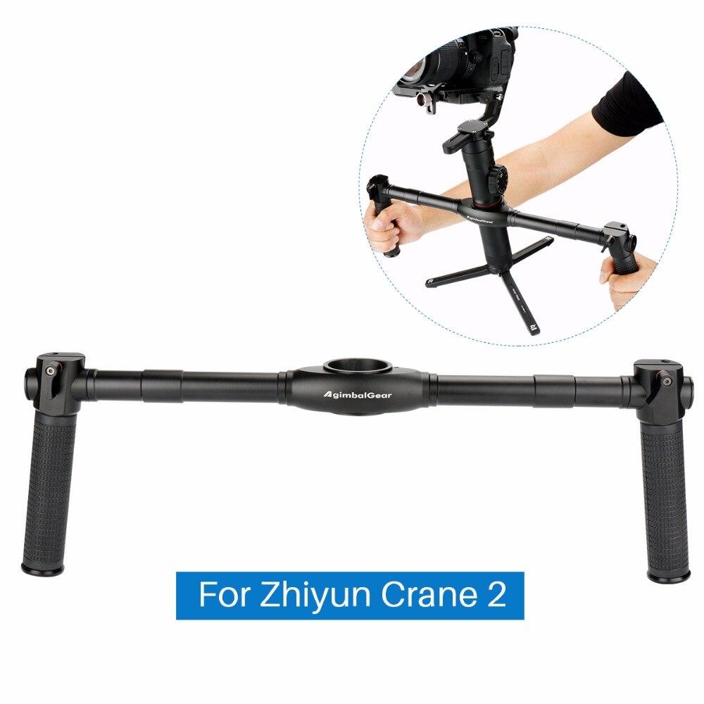 Poignée double DH02 pour grue Zhiyun 2 poignées de poignée étendues à double main pour stabilisateur de cardan à 3 axes Zhiyun Crane 2