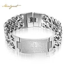 Meaeguet Fashion men bracelets &bangles stainless steel bracelet with cross design jewelry