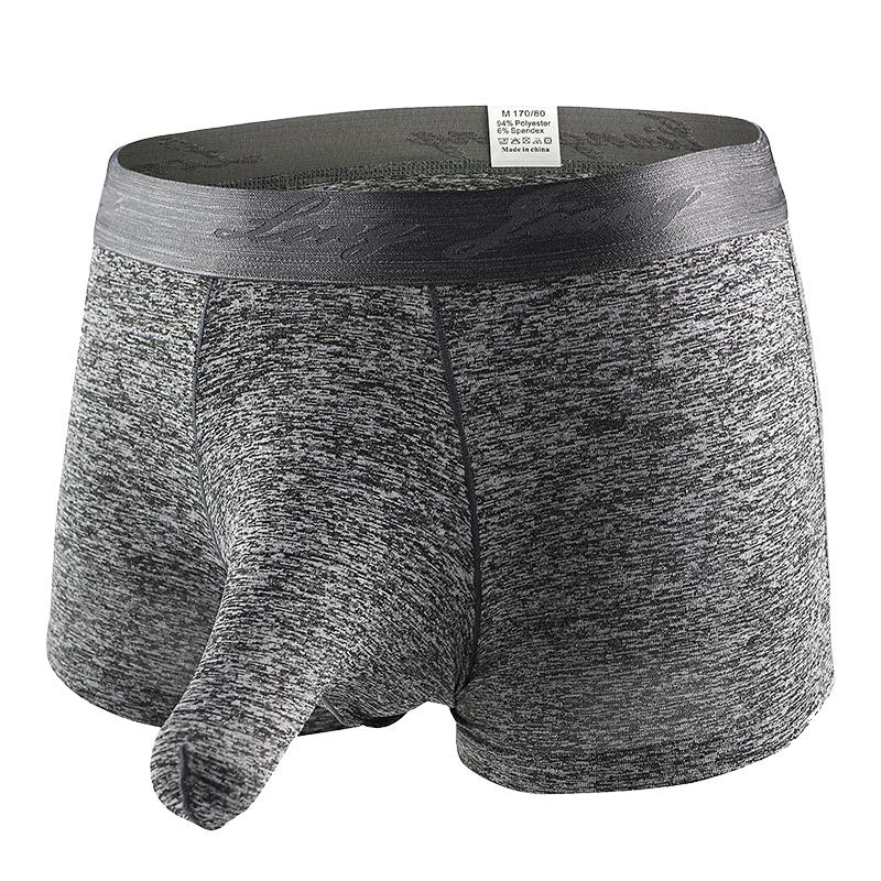 Hot Sexy Mens Elephant Bulge Briefs Underwear U convex design Smooth Long Bulge Pouch Briefs clothes male gay underwear MNK104