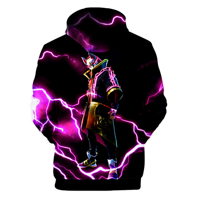Fortnited Battle Royale Pink Streetwear Drawstring Hoodie Men Hip Hop Sweatshirts 3d Anime Print Pullover Punk Hipster x5460  1