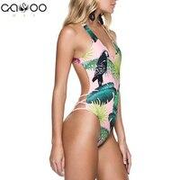 2018 Sexy Swimsuit Women Push Up Beach Swimwear Cross Bandage Halter One Piece Swimsuits