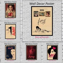 Music Singer Amy Kraft Paper Paintings Vintage Wall Posters Stickers Home Decor 42X30cm