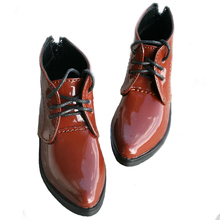 [wamami] 13# Brown & OrangeRed Shoes For 1/4 MSD DOD BJD Dollfie Leather Shoes