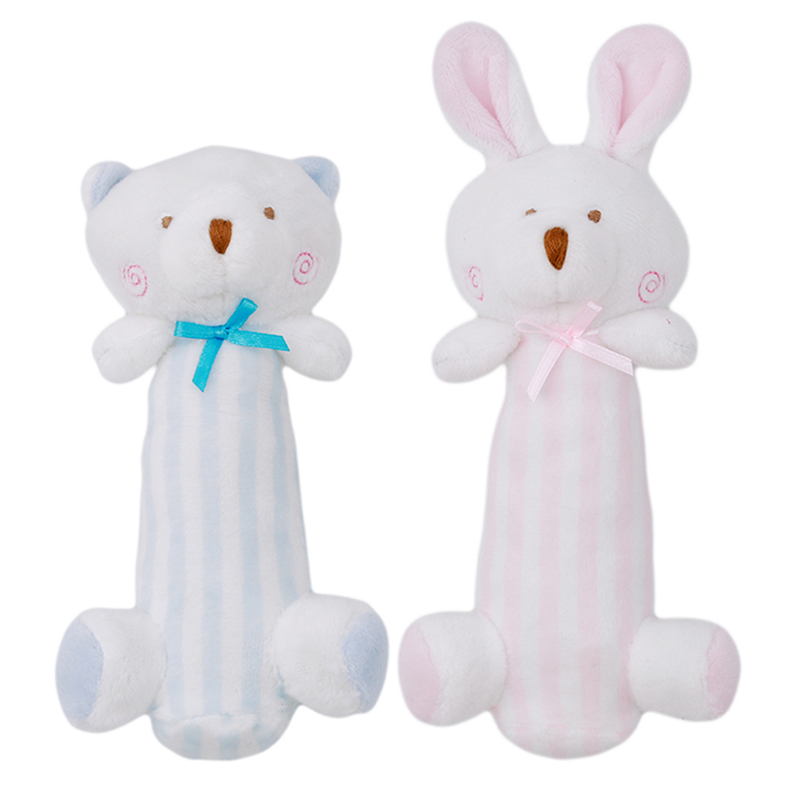 New Newborn Cartoon Baby Boy Girl Rattles Mobiles Infant Animal Hand Bell Kid Plush Toy Development Gifts Toddler Toys 0-12M
