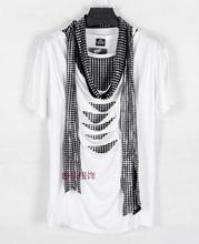 2017 nicht-mainstream Jugend Metrosexual Gefälschte zweiteilige Luxus T-shirt Männer T Shirt Dünnen Männer Marke Fashion Roupas De Hip Hop T hemd