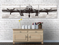 Huge Size B29 Giclee Print Airplane Canvas Art For Gallery Wrap 24 24 4 Pcs In