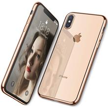 купить Case For iPhone XS Max XS XR ,WEFOR Ultra Slim Thin Clear Soft Premium Flexible Chrome Bumper Transparent TPU Back Plate Cover дешево