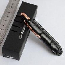 롤러 볼 펜 미니 악어 펜 블랙 + 파우치 깔끔한 CONVIENCE 9CM 블랙 구리 골든 실버 6 색 선택