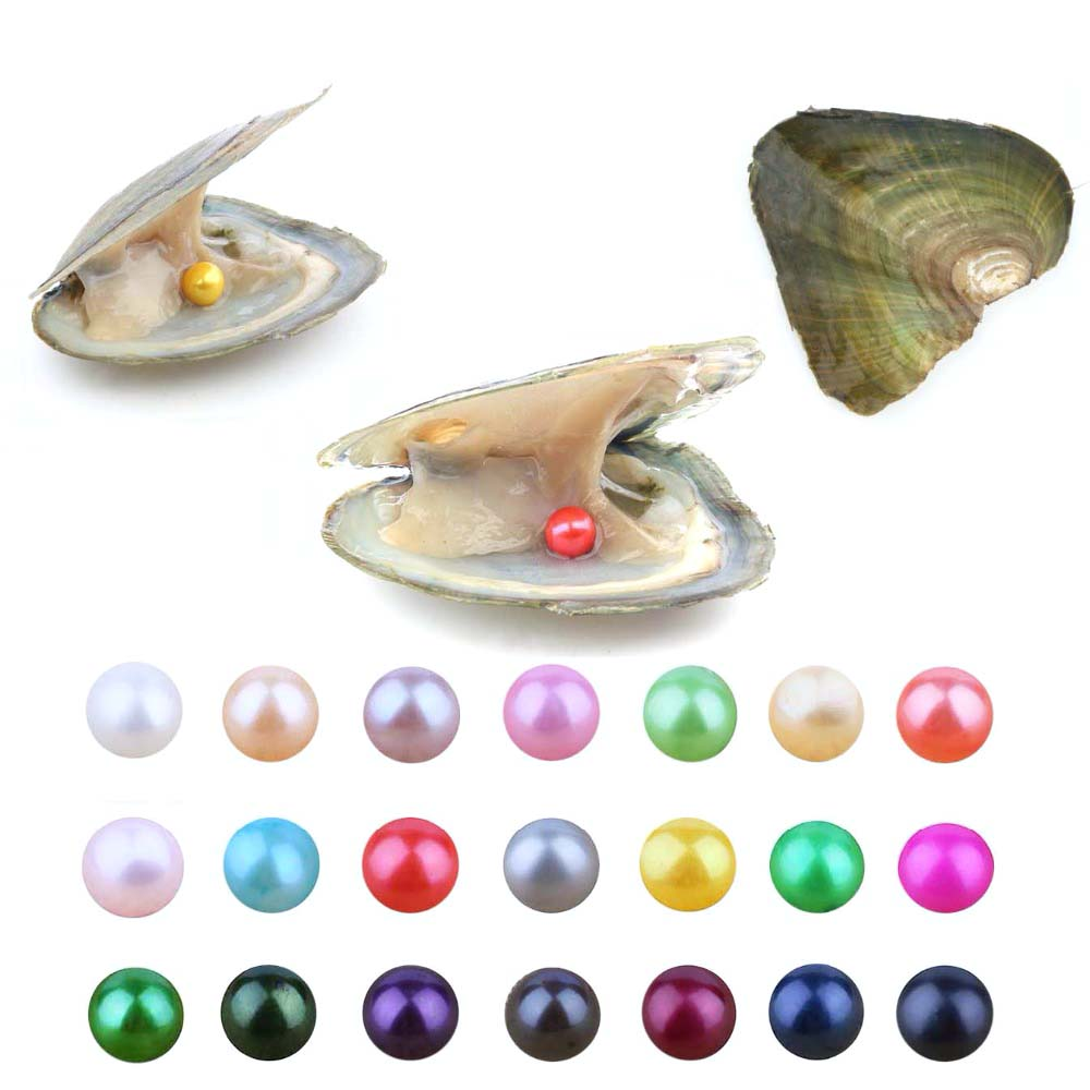 все цены на 20 PCS/lot Pearl Oyster Freshwater Cultured Love Wish Pearl Oyster with 7-8mm Round Pearls Inside(Random Different Color) онлайн