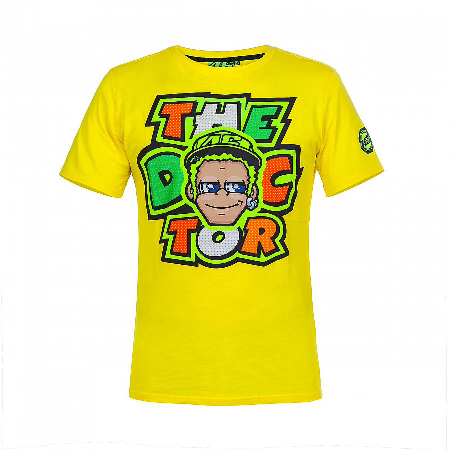 <font><b>2017</b></font> 46 The Doctor fumetto <font><b>T-shirt</b></font> Valentino <font><b>Rossi</b></font> VR46 <font><b>Moto</b></font> <font><b>GP</b></font> Motorcycle Team <font><b>Racing</b></font> <font><b>T-Shirt</b></font> Yellow