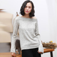 2018 Fashion Autumn Off Shoulder Sweaters Cable Knit Womens Sweater 100 Pure Cashmere Long Sleeve Solid
