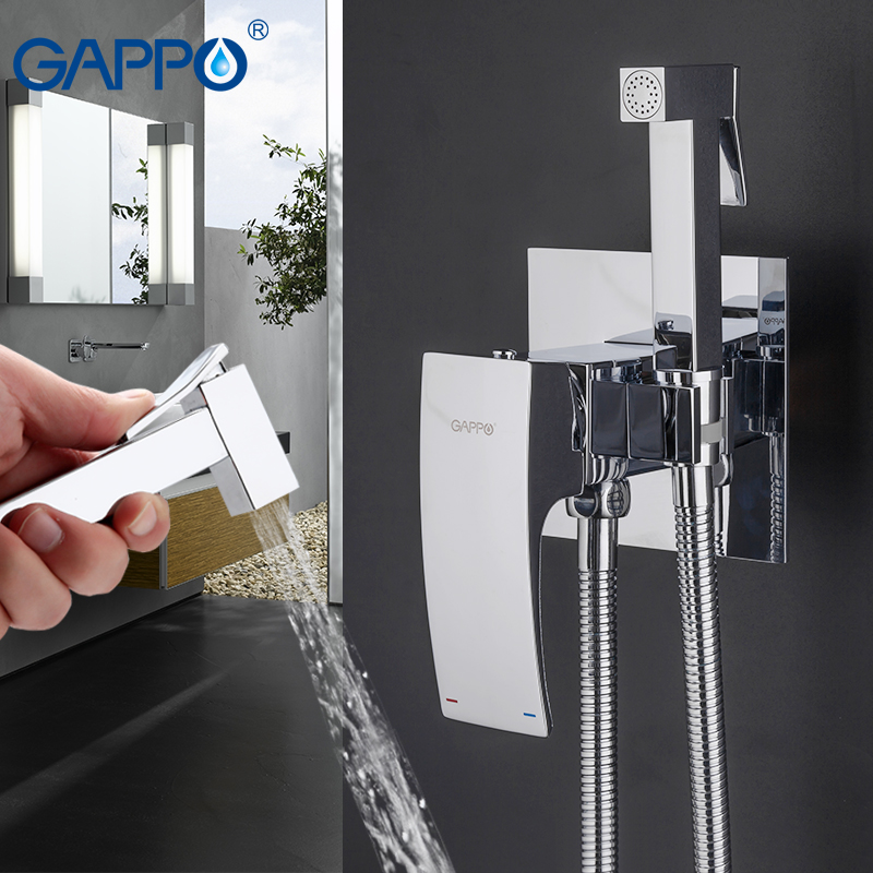 GAPPO Bidet Faucets brass toilet spray faucet chrome plating faucet bidet bathroom bidet shower toilet water